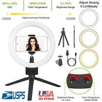 """9"""" Dimmable 5500K LED Ring Light Kit with Stand for Makeup Phone Camera Selfie"""
