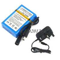 12V 3000mAh Super Rechargeable Li-ion Battery Pack+Wall Charger UK/AU/US/EU Plug