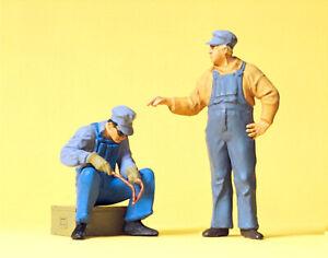 """Preiser 63077 Escala 1 :3 2 Figuras """"Trabajadores Ee.uu. # Nuevo Emb. Orig."""