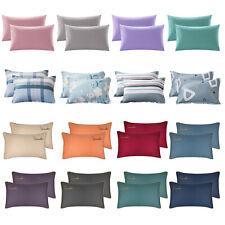 Set of 2 Premium Cotton Pillowcases Soft Gentle Bedding Pillow Case Covers Set