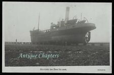 c1920 Boat Barrow No2 Ashore on Roa Island Barrow in Furness Cumbria Postcard