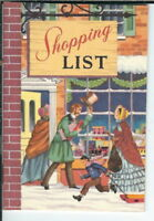AX-083 Rand McNally & Co Christmas Shopping Notebook, style 5511 Vintage 1950's