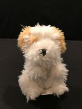 Vivid Scruffies Brown White 3.5in Fox Terrier Puppy Dog Stuffed Plush Animal Toy