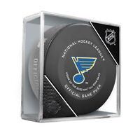 St. Louis Blues Official NHL Game Hockey Puck (in Display Cube)