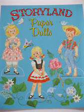 Storyland Paper Dolls - vintage reproduction w/ 7 dolls & storybook clothes
