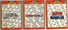 1988 Pro Set 23-card Super Bowl Football Set