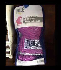 Everlast Wrst Wrap Training Boxing Gloves Pink 12 oz