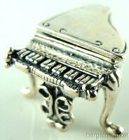 Sterling Silver Miniature Baby Grand Piano #267