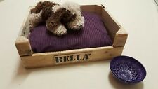 AMAZING NEW DOG CAT BED CRATE WOODEN RUSTIC PERSONALISED HANDMADE SHABBY PET