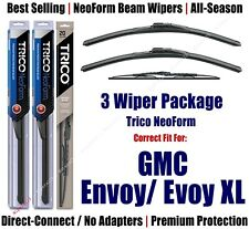 3-Pack Wipers Front & Rear - NeoForm - fit 2006 GMC Envoy/Envoy XL 16220x2/30160