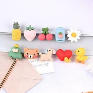 20pc Mixed Resin Cartoon Mini Fruits Hearts Flatback Buttons for Crafts Decor