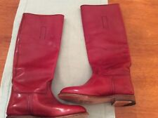 "FRYE Women's Abigail Riding Polished Boot Red 5 ""M"