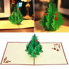 3D Pop Up Greeting Cards Xmas Tree Thanksgiving Best Wish Easter Gift Card NEU~,