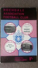 Rochdale v Mansfield football programme 1969