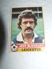 Jeff Blockley Leicester City  #14 Topps Football Cards 1977   Red Backs