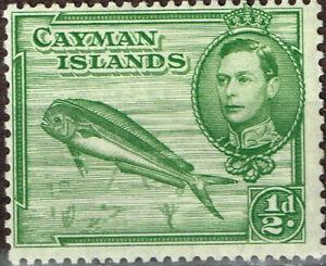Cayman Islands Fish Marine Life stamp 1946 MLH