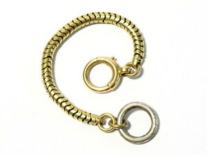 Antique Marriage Short Gold Snake Chain + Gold Roll Over Clasp + 1 UPCYCLE #EH97
