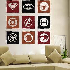 The Avengers Hero Logo Art Wall Decals Stickers Home Room Decor Vinyl Mural DIY