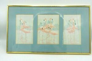 D Christopher Triptych Flamingo Prints Birds Watercolor Prints South Beach Art