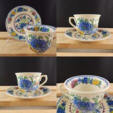 ANTICA TAZZA E PIATTINO MASON'S PATENT IRONSTONE CHINA DECORO REGENCY ART DECO