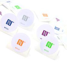 5 NFC Tags Sticker | NXP NTAG 215 | rund 30mm | 540 Byte | farbig
