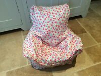 Handmade Children's Beanbag Chair Cover, Rose Floral