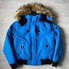 noize insulted blue ski winter hood faux fur Jacket Womens Size large