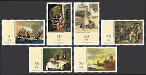 Germany DDR/GDR 2284-2289, MNH. 17th century paintings in National Museum, 1982