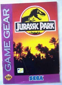 61679 Instruction Booklet - Jurassic Park - Sega Game Gear (1992)
