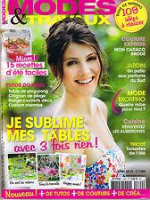 Mode et Travaux n° 1334 Juillet 2014 magazine Tricot Couture déco