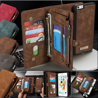 Leather Removable Wallet Magnetic Flip Card Case Cover for iPhone 6 7 8 X XS MAX
