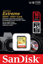 Sandisk 16G extreme class 10 SDHC SD card for Canon VIXIA mini X HF R52 R50 R500