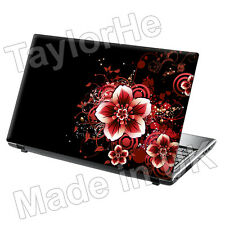 "15.6"" Laptop Skin Sticker Decal Red Flowers Beautiful"