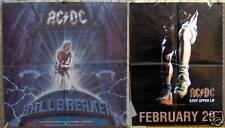 """2 AC/DC PROMO POSTERS """"Ballbreaker"""" 24x24"""" ©1995 """"Stiff Upper Lip"""" 18""""x24"""" ©2000"""