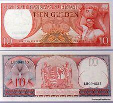 SURINAME billet neuf de 10 GULDEN Pick121  beau sourire indien arc 1963