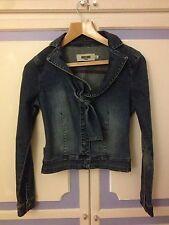 Authentic Moschino perfettamente su misura giacca di jeans, taglia IT40 o UK8-in buonissima condizione