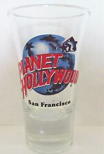 PLANET HOLLYWOOD  SAN FRANCISCO  FLUTED  3 1/2  INCH SHOT GLASS