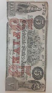 Confederate States Of America 1861 Five Females Allegory Note Bill 5
