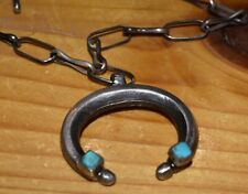 SUPERB ACOMA SILVERSMITH DYAAMI LEWIS  STERLING SILVER/TURQUOISE NAJA