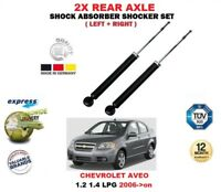 FOR CHEVROLET AVEO 1.2 1.4 LPG 2006->on 2X REAR LEFT RIGHT SHOCK ABSORBERS SET