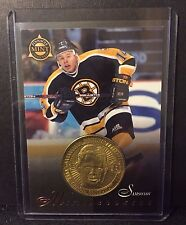 Sergei Samsonov 1997-98 Pinnacle Mint Die-Cut Card w/ Brass Coin Rookie #26