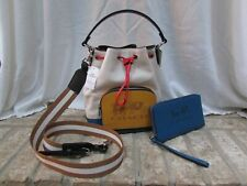 COACH ColorBlock Jes Drawstring Bucket Bag & Wallet With Horse & Carriage  NWT