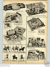 1958 PAPER AD 2 PG Toy Panama Canal Action Figures Jim Bowie Blaze Wyatt Earp