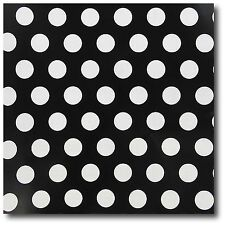 "Black/White Polka Dot Wrap Paper - 30"" x 240"" Lg Roll - 50 SQ FT"