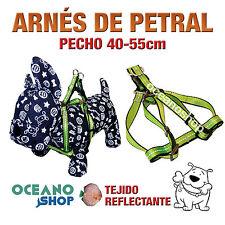 ARNÉS PETRAL VERDE TEJIDO REFLECTANTE AJUSTABLE PERRO PECHO 40-55cm L76 3370