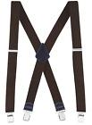 Buyless Fashion Textured Suspender Mens - 48 Adjustable Straps 1 1/2 - X Back