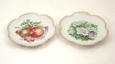 ANTIQUE FRUIT & FLOWERS WALL CABINET PLATE GOLD EDGE GIFT COLLECTIBLE DECOR