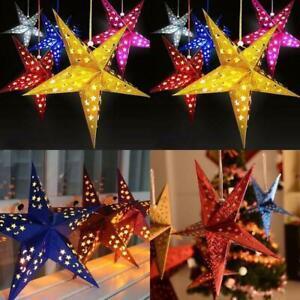 UK Paper Hanging Star Lanterns Lamp Shade Garland Home Bar Birthday Party Decor