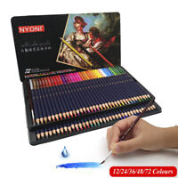 72 Colors Brush Watercolour Pens Set Colouring Tips Fine Art Markers Drawing US'