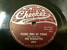 Starlettes 1958 Girl Group DOO WOP 78 Please Ring My Phone / Jungle Love CHECKER